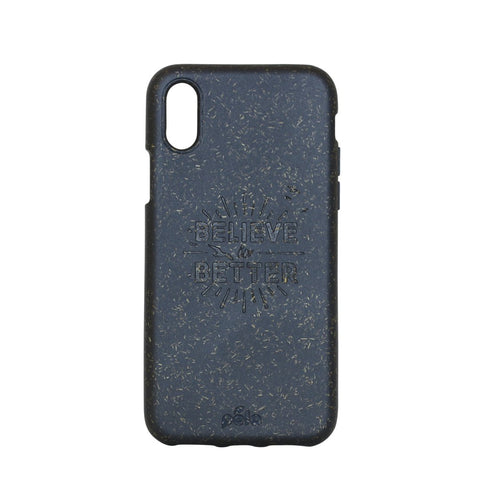 """Believe in Better"" Black Eco Friendly iPhone X Case"