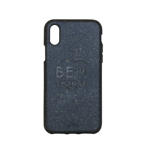 """Be The Change"" Black Eco Friendly iPhone X Case"