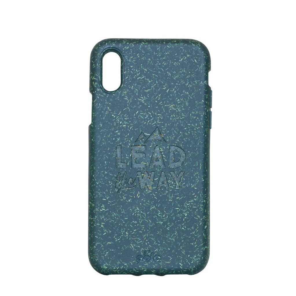 """Lead The Way"" Green Eco Friendly iPhone X Case"