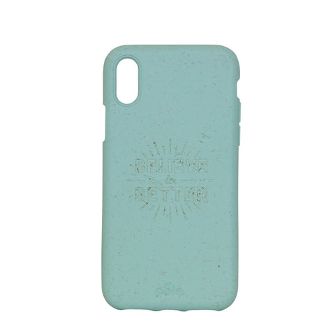 """Believe in Better"" Ocean Turquoise Eco Friendly iPhone X Case"