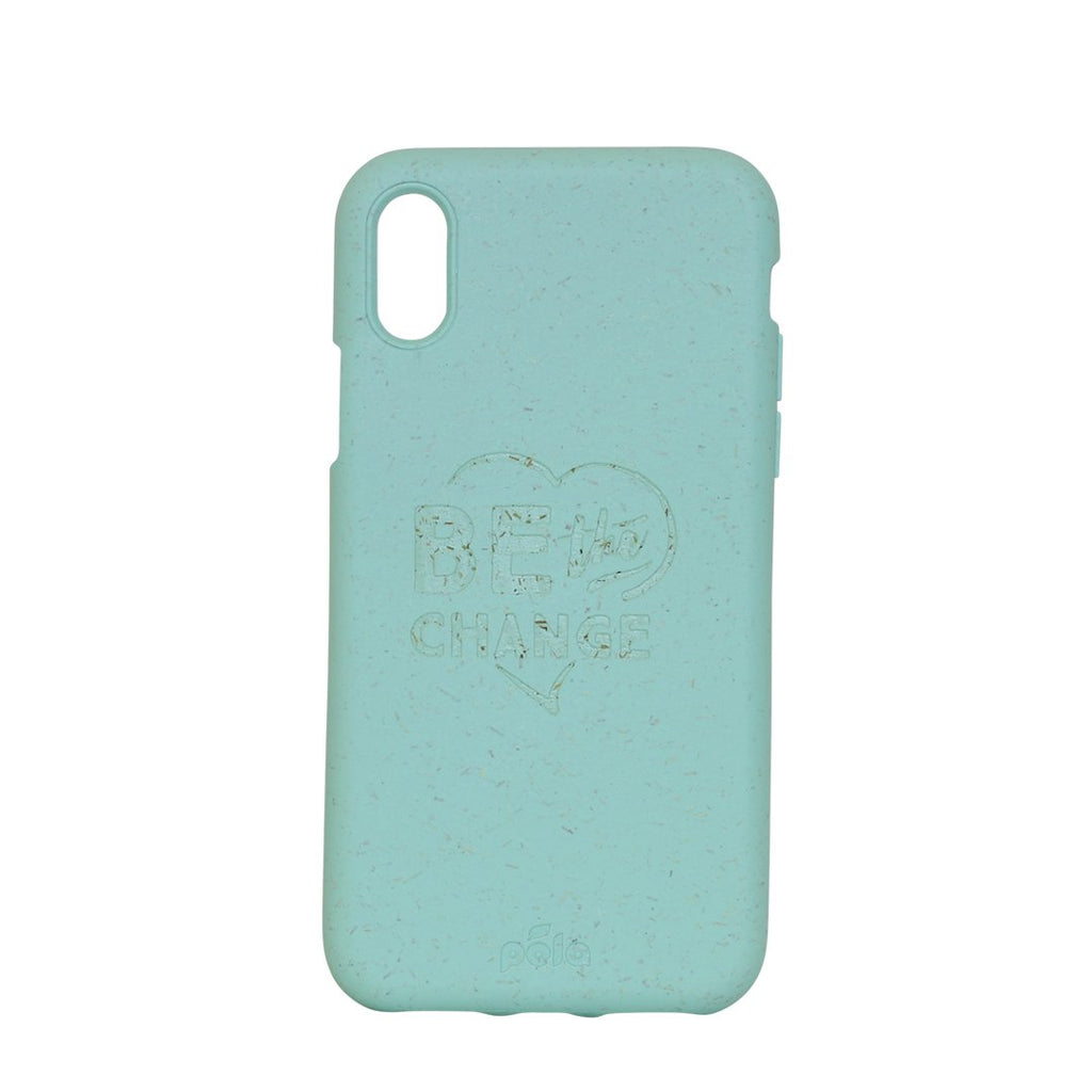 """Be The Change"" Ocean Turquoise Eco Friendly iPhone X Case"