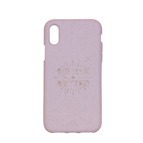 """Believe in Better"" Rose Quartz Eco Friendly iPhone X Case"