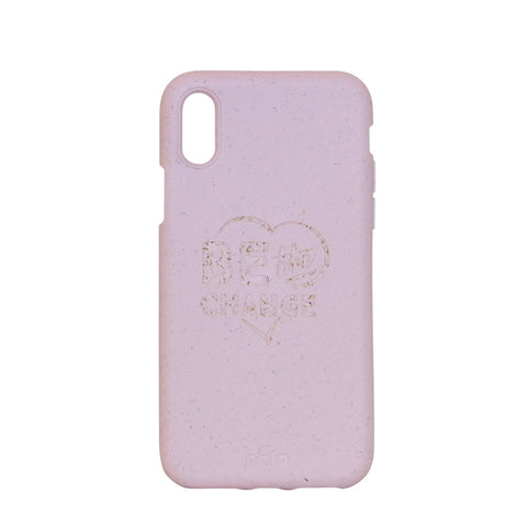 """Be The Change"" Rose Quartz Eco Friendly iPhone X Case"