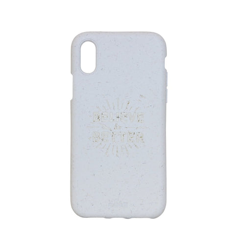 """Believe in Better"" White Eco Friendly iPhone X Case"