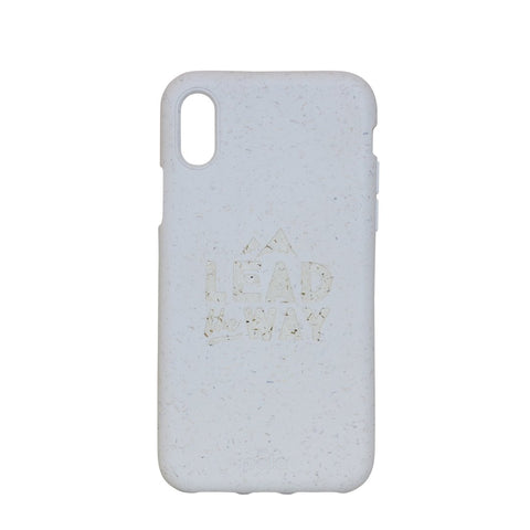 """Lead The Way"" White Eco Friendly iPhone X Case"