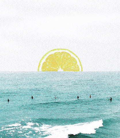 Lemon Sunset Art Print