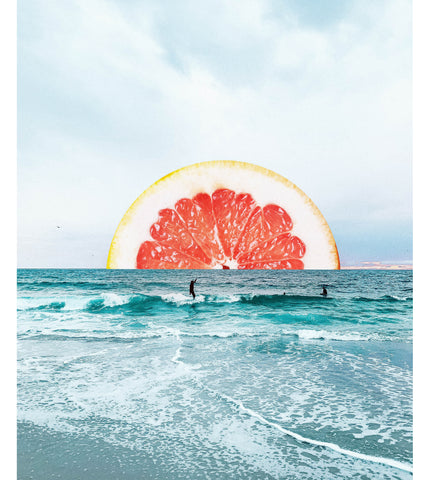 Grapefruit Sunset Art Print