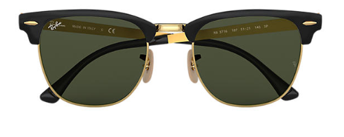 Ray-Ban Clubmaster Metal RB 3716 Pair Of Non Polarising Lenses