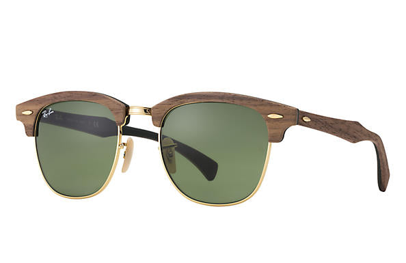 Ray-Ban Clubmaster Wood RB 3016M Sunglasses Replacement Pair Of Non Polarising Lenses