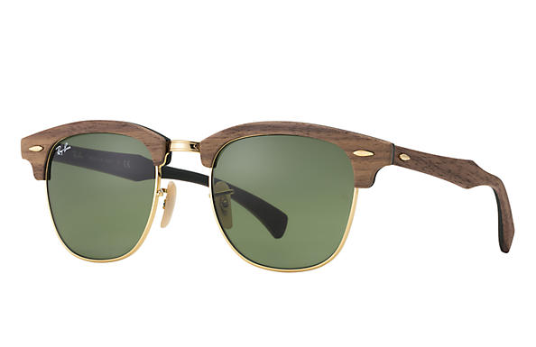 Ray-Ban Clubmaster Wood RB 3016M Sunglasses Replacement Pair Of Sides