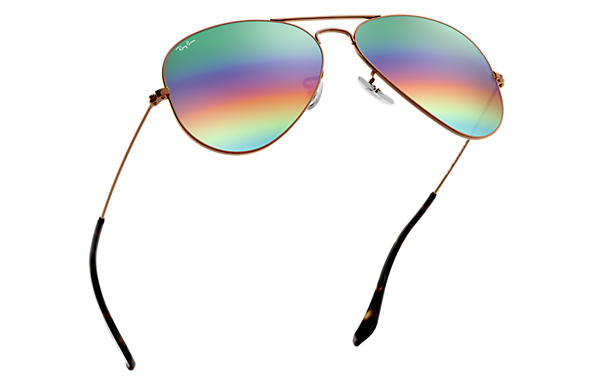 Ray-Ban Aviator Mineral Flash Lenses RB 3025 Sunglasses Replacement Pair Of Sides