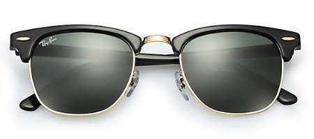 Ray-Ban Clubmaster Folding RB 2176 replacement Pair Of Non-Polarising Lenses