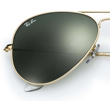 Ray-Ban replacement Non Polarising lenses bespoke order