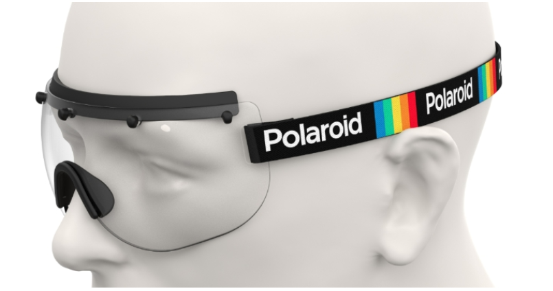 Polaroid Stay Safe 1 Face shield covid 19 protection Side view