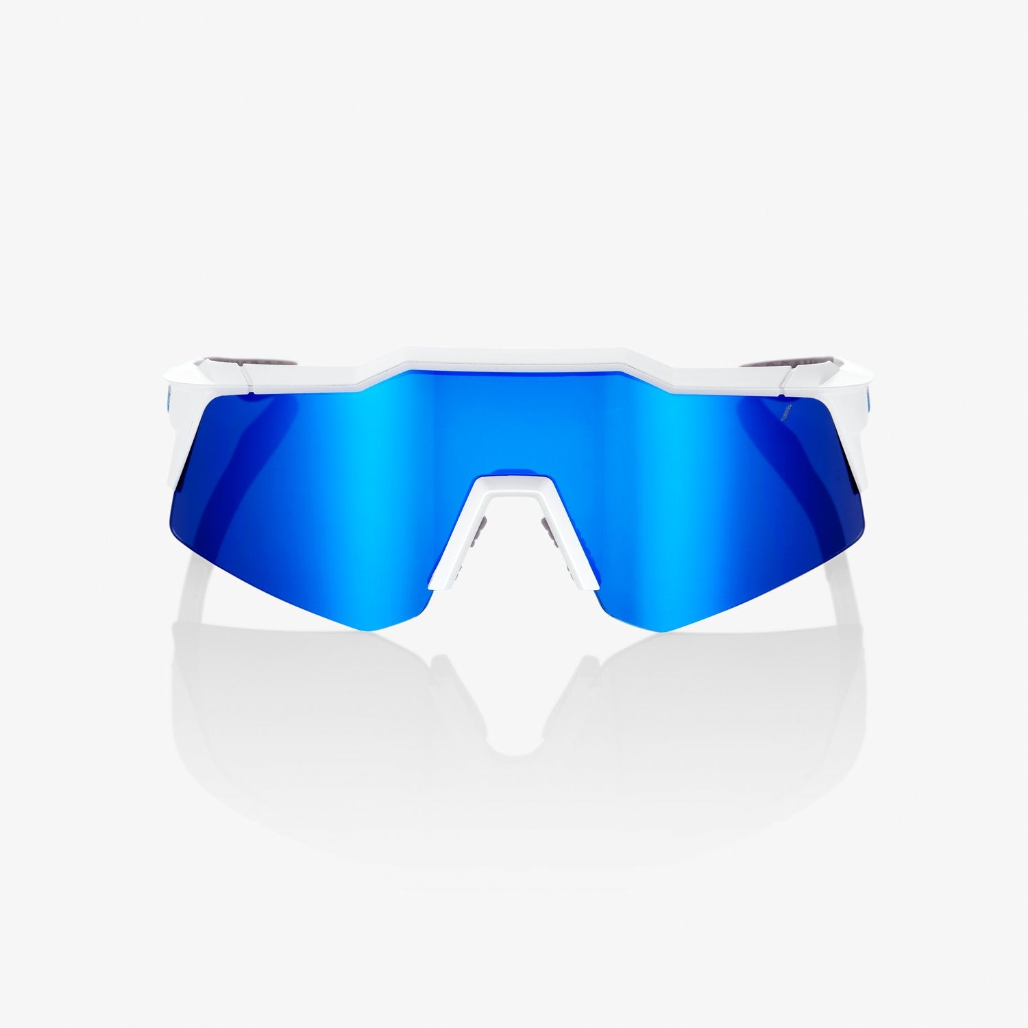 100% Speedcraft XS Sunglass - Matte White Blue