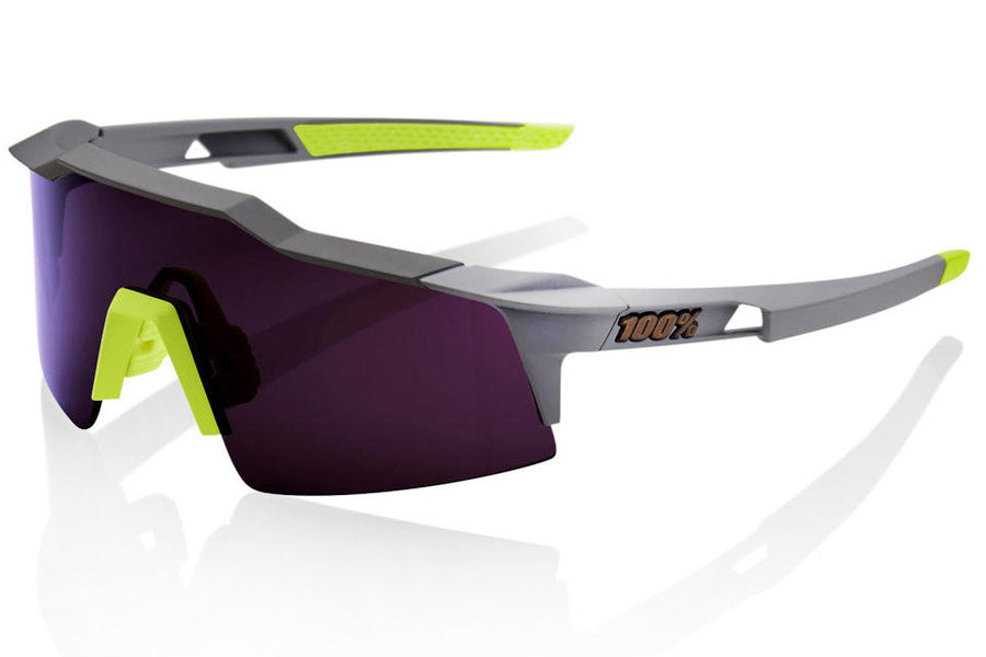 100% Speedcraft SL Sunglass - Soft Tact Midnight Mauve
