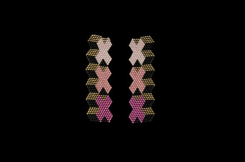 XXX Swatch, Mauve, Beaded Earrings