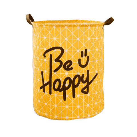 "Panier à Linge <br> ""Be Happy"""