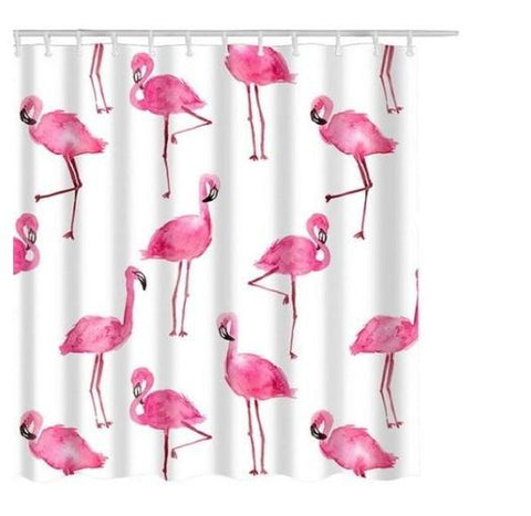 Rideau De Douche Flamants Roses