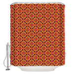 Rideau De Douche Style Boho Orange