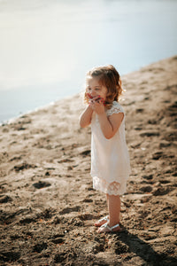 Vintage Cream Lace Dress - 12 month