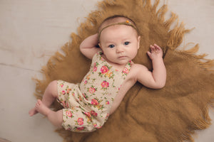 Floral Cotton Romper - 3-6 month