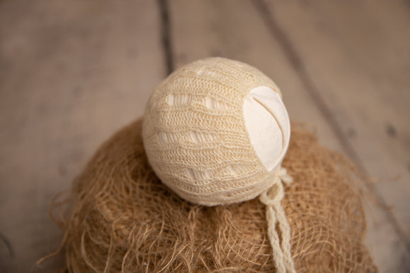 Cream Newborn Bonnet
