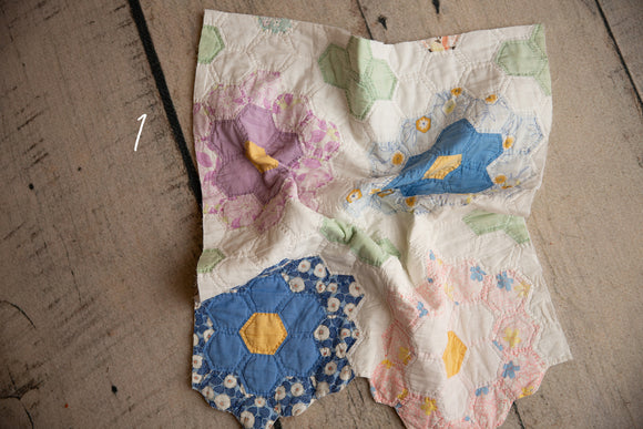 Flower Quilt Pieces