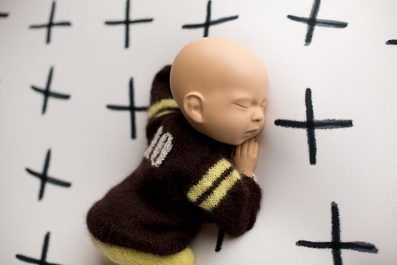 Newborn Mohair Knitted Football Outfit