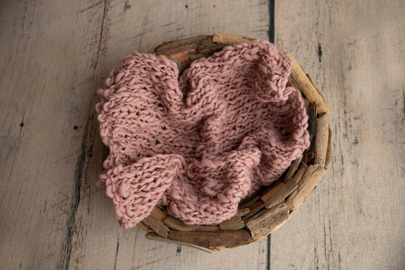 Chunky knit layer - Mauve