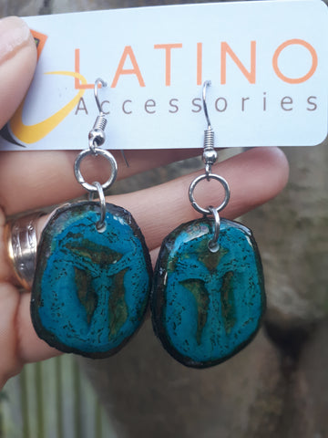 Banana Earrings - Blue