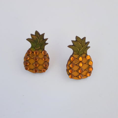 Pineapple Earrings - Yellow