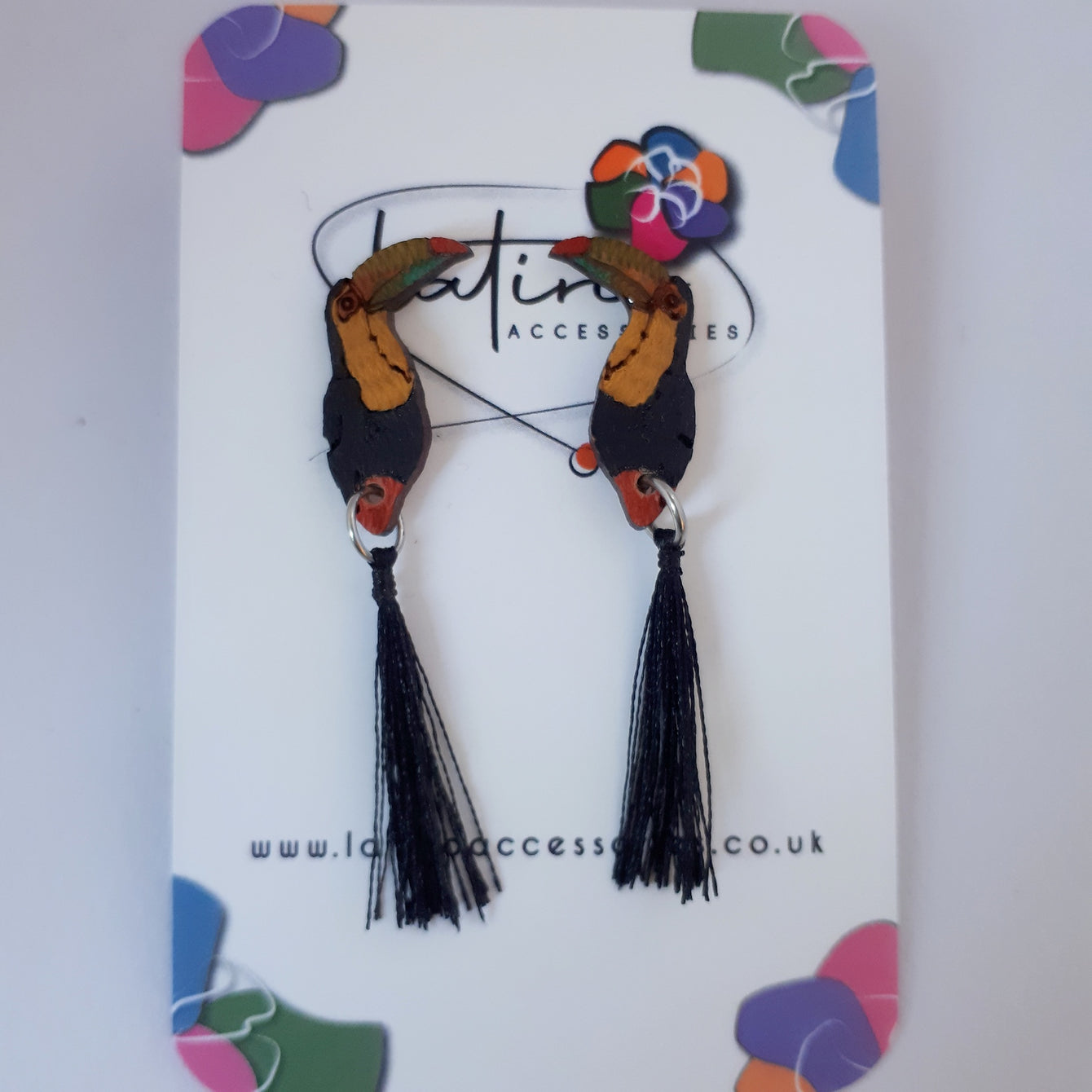 Toucan Earrings - black