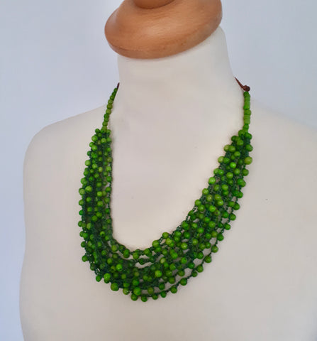 Lime Green Seed Necklace