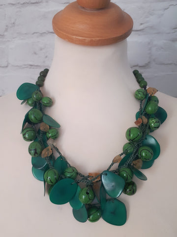 Emerald Green Tagua Necklace
