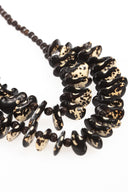 Black & white chunky necklace, dalmatian beans necklace, women necklace
