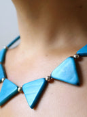 Inca Tagua Necklace - Blue, Purple
