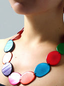 Lunas Tagua Necklace - Multicolour necklace