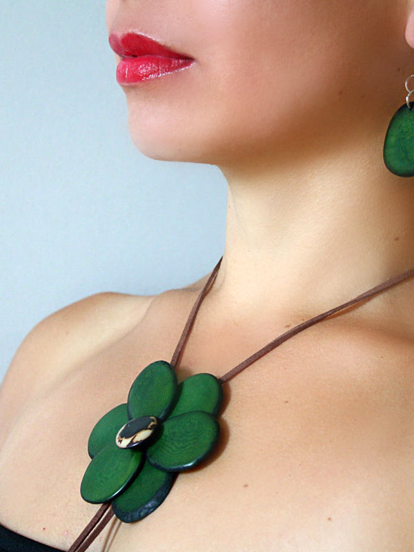 Margarita Tagua Necklace - Green