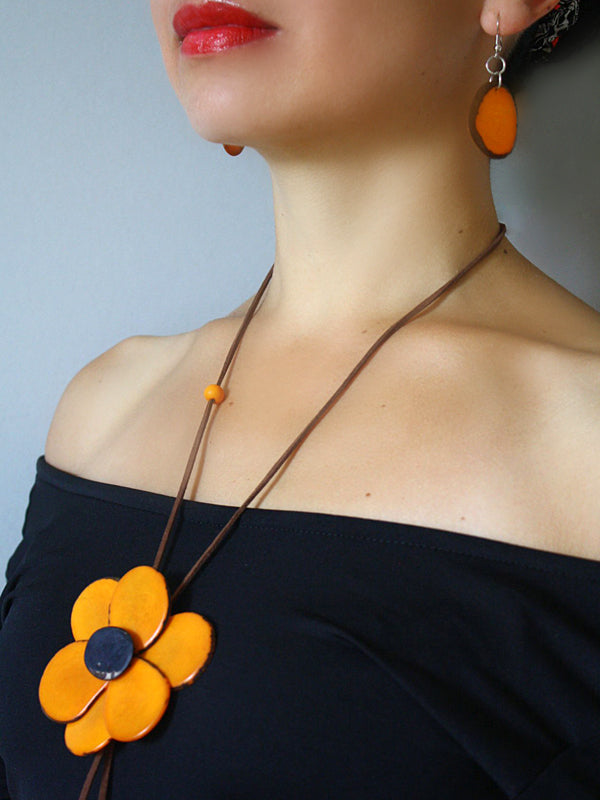Margarita Tagua Necklace - Yellow