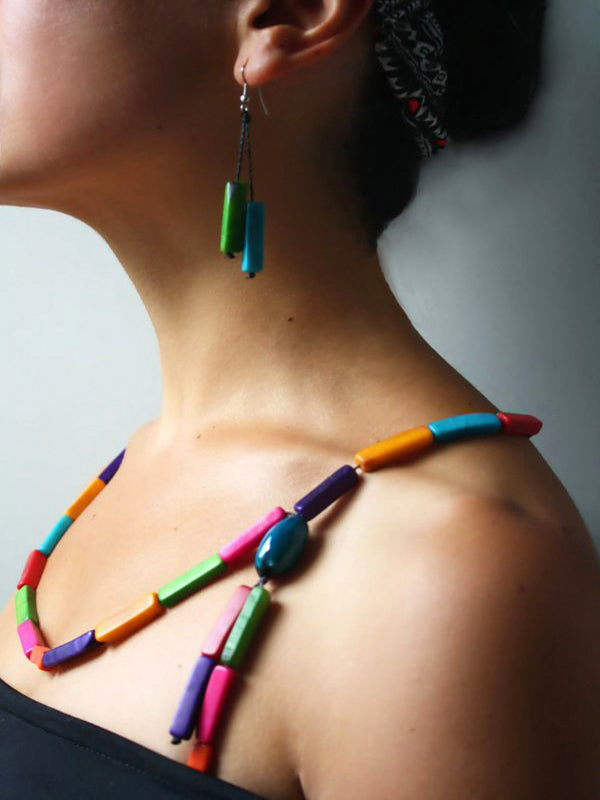 Multicolour Funky Necklace - Multicolour Chunky Necklace