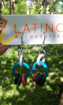 Multicolour Ring Earrings