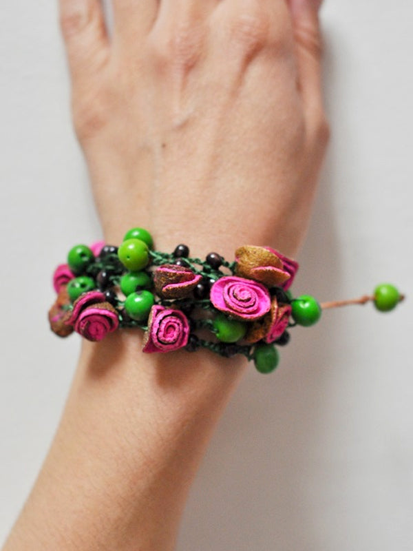 Green, Pink, Purple, Blue, Orange Peel Bracelet - Multicolour Bracelets