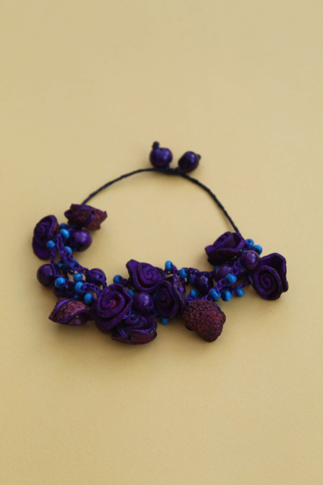 Purple & Blue Roses Bracelet