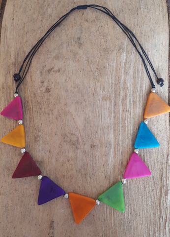 Inca Tagua Necklace - Multicolour