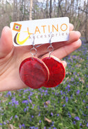 Lemon Earrings - Pink, Red