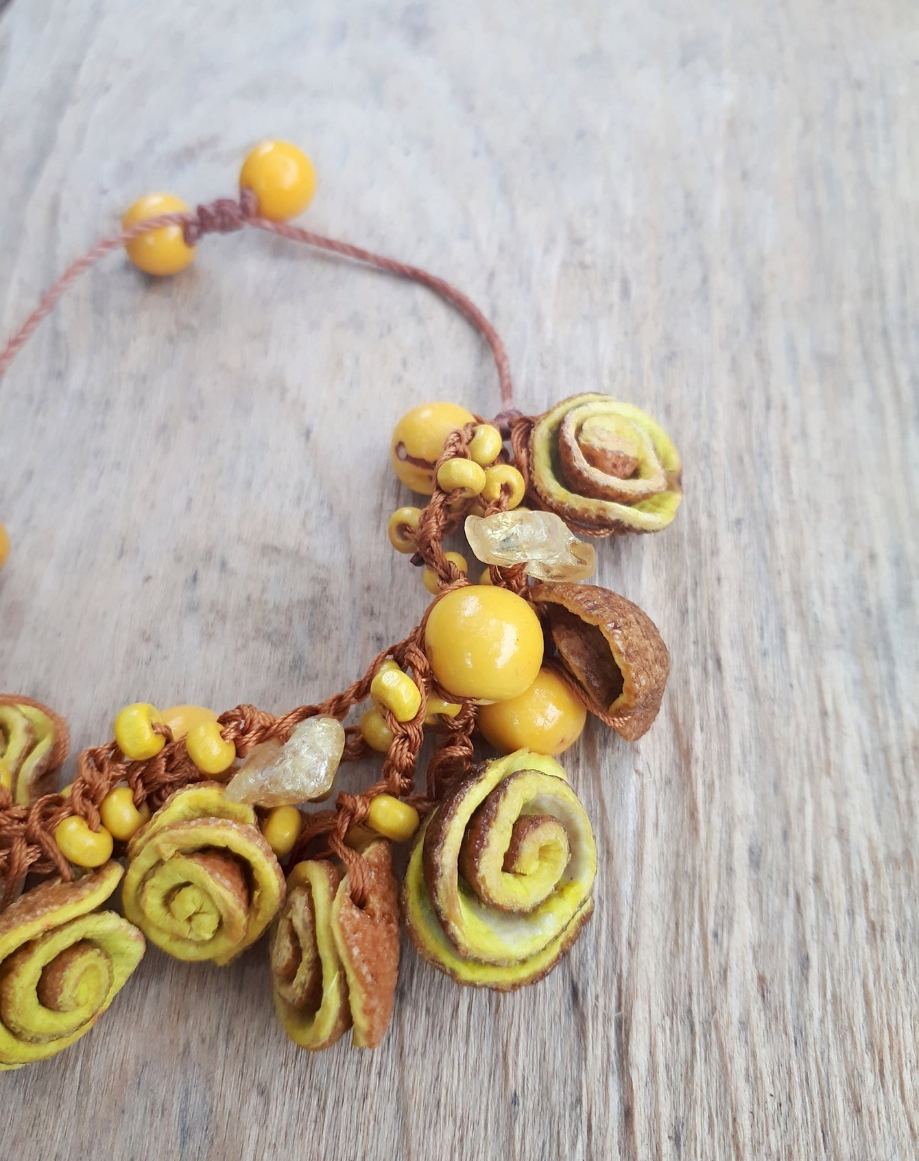 Yellow Orange Peel Bracelet