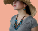 Blue Statement Necklace, Blue Chunky Necklace, Blue Necklace