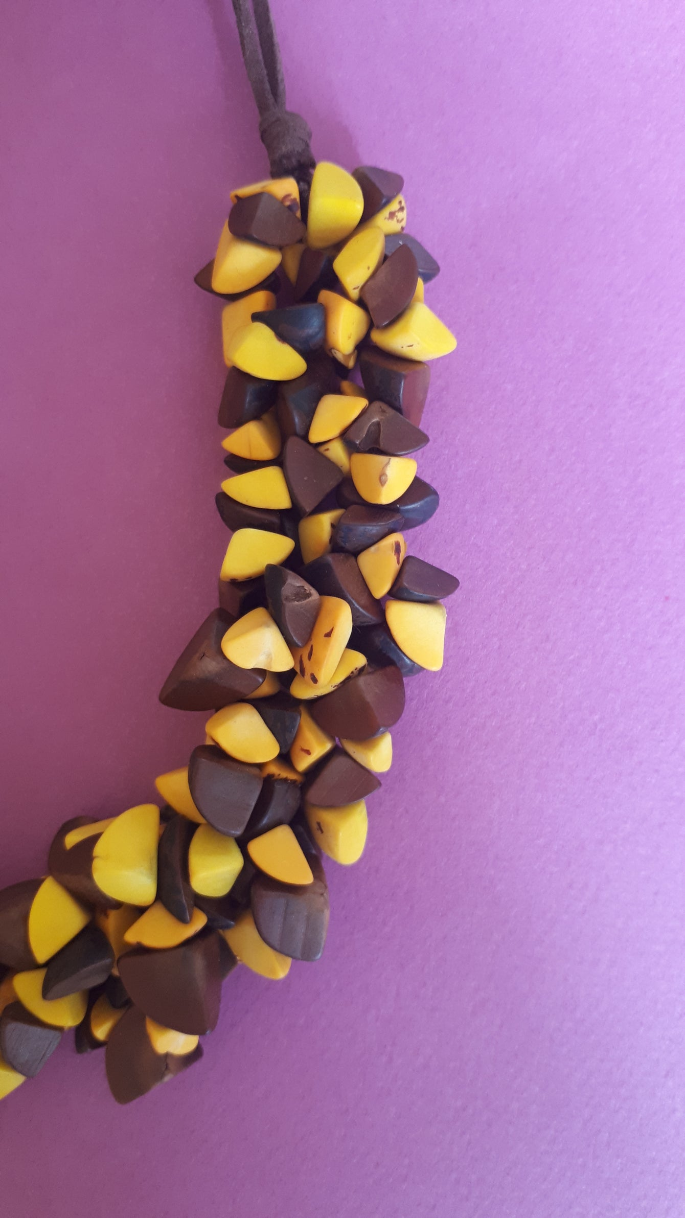 Trocitos De Tagua Necklace - Multicolour