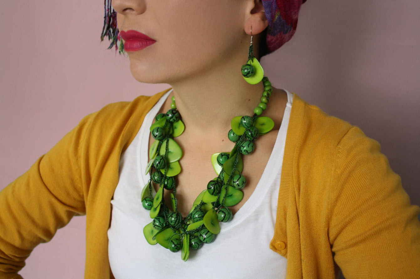 Green Chunky Necklace